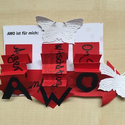 """Postkartenaktion """"AWO ist für mich..."""" Herbst 2017"""